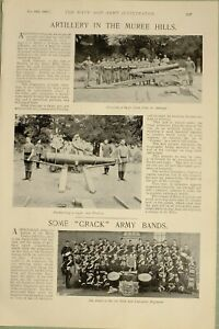1897-PRINT-ARTILLERY-MUREE-HILLS-MOUNTING-CARRIAGE-1st-YORK-amp-LANCASTER-BAND