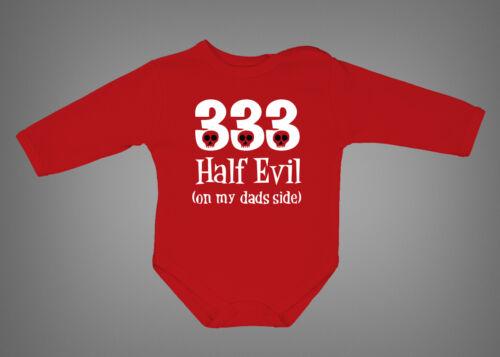 333 Half evil Cute baby bodysuit 666 funny newborn gift onepiece romper s rt