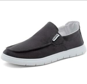 Men-039-s-Casual-Canvas-Shoes-Slip-into-penny-Shoes-Driving-Travel-Shoes-Loafers
