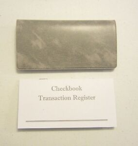 1 grey marble vinyl check book cover 1 checkbook transaction