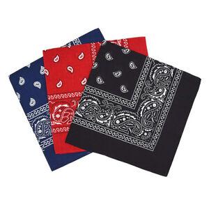 Set-de-3-bandanas-Paisley-Homme-et-Femme-57-x-57-cm-Noir-rouge-bleu-marine-S6E7