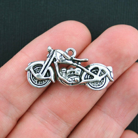 2 Sword Charms Antique Silver Tone 2 Sided Large Size SC6319