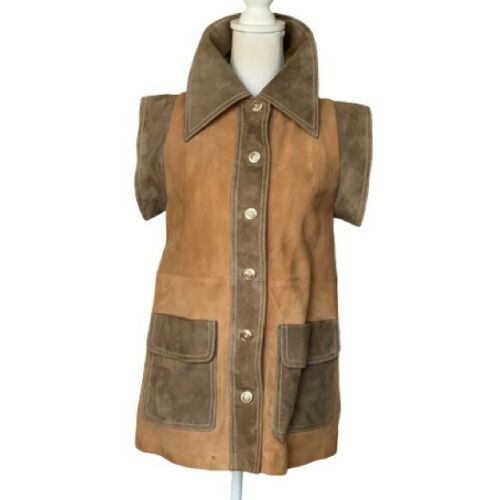 Lucy Claire Vintage French Made Genuine Suede Vest