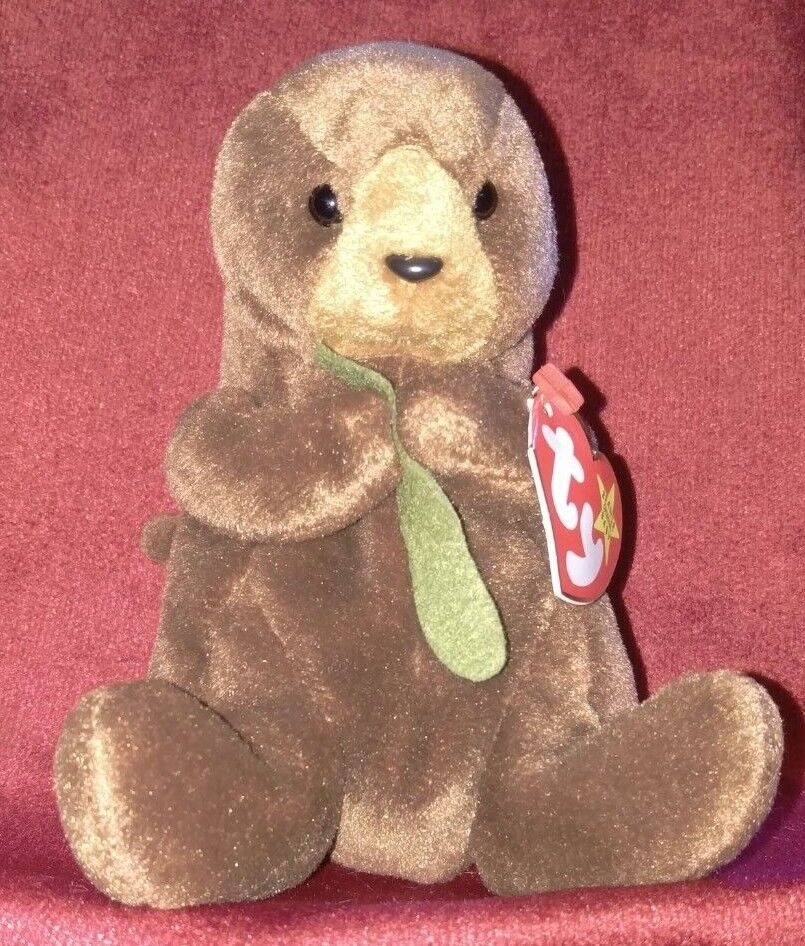 TY Beanie Baby Seaweed the Otter 1995 P.V.C.Pellets