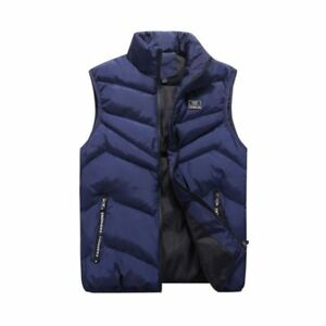 57d560145f372 Men Winter Zipper Vest Sleeveless Puffer Warm Outwear Padded Safari ...