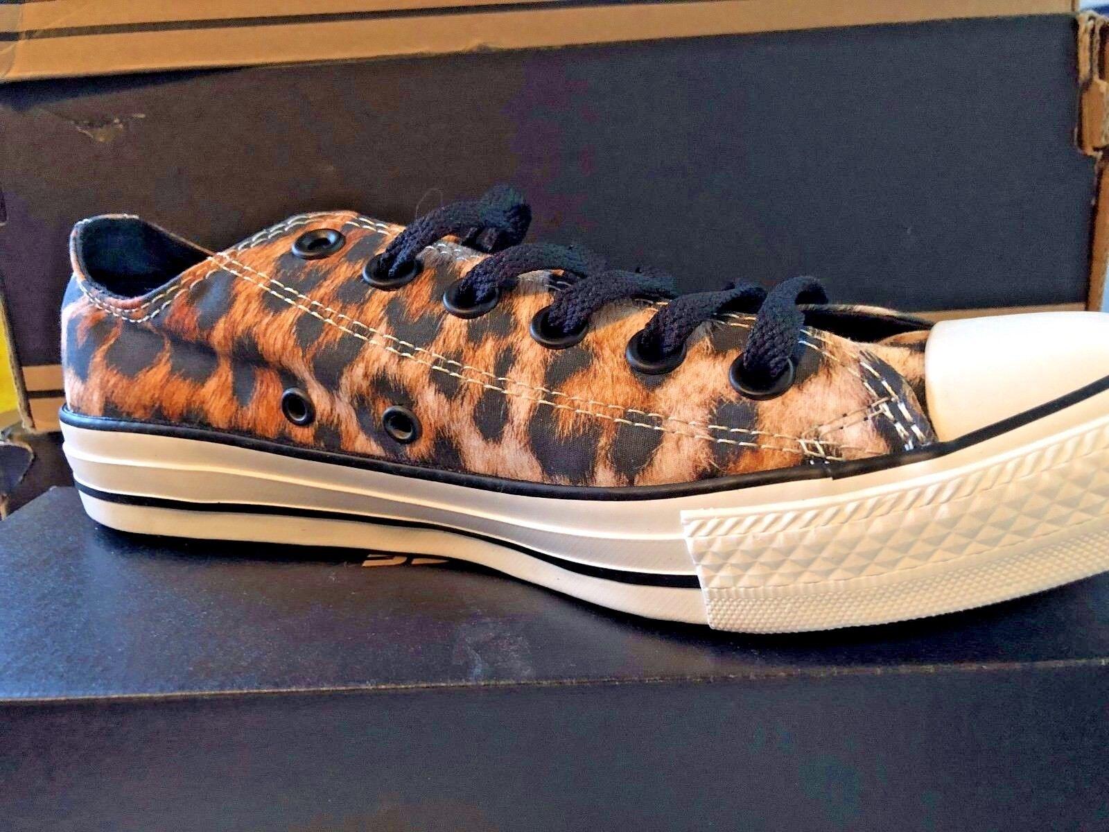 NEW Converse Leopard Print Chuck Taylor Lo Ox Black Black Black Multi Women's Sizes RARE 731284