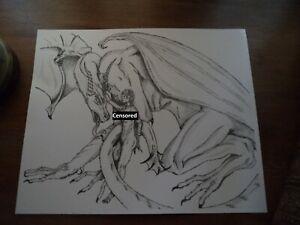 ART PRINT PAINTING DRAWING FANTASY DRAGON BATTLE MEDIEVAL WARRIOR LFMP1033