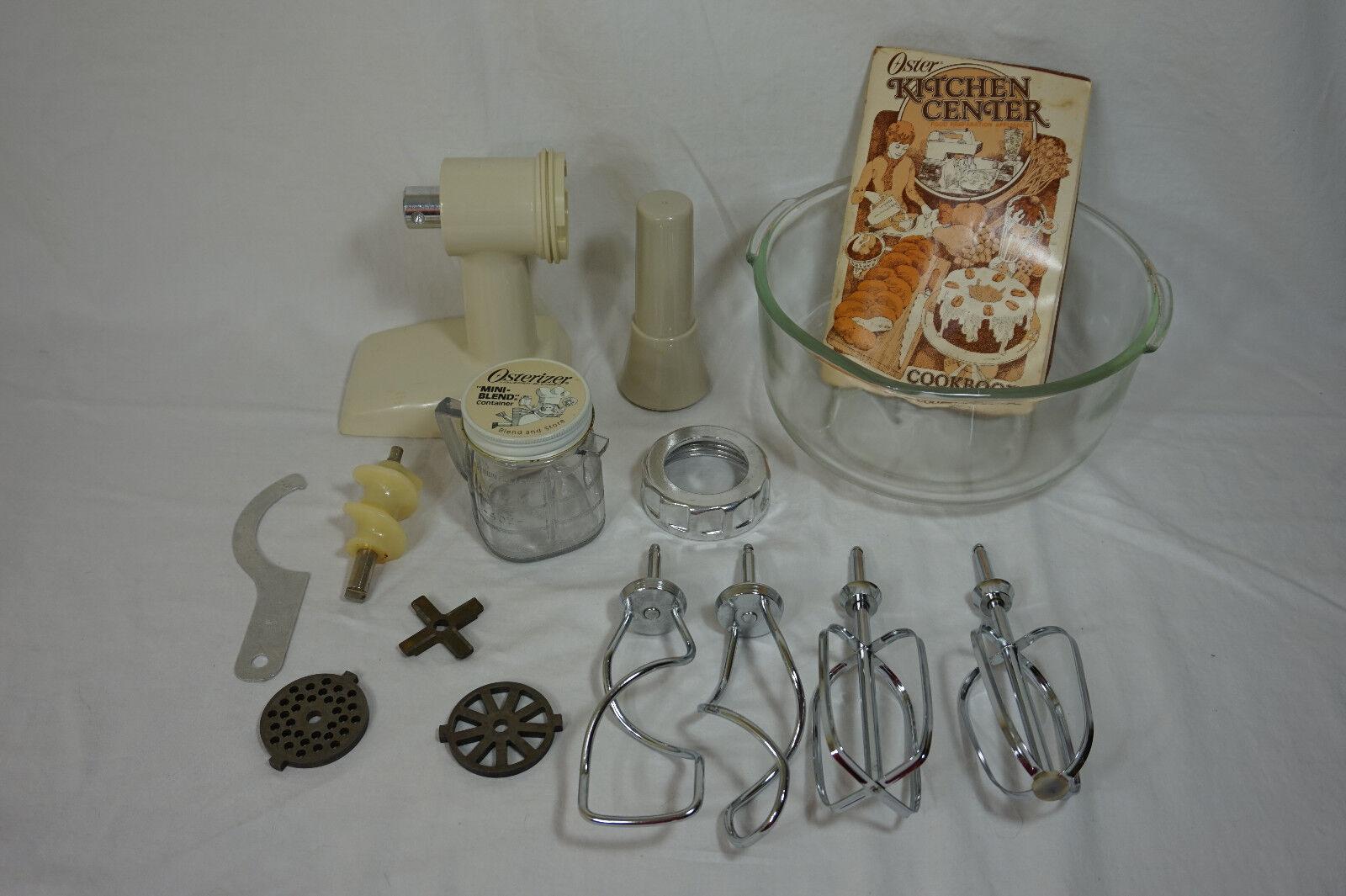 OSTER Kitchen Center FOOD GRINDER Lrg Bowl COOKBOOK Beaters & Hooks MORE