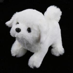 Dog Animal Barking Walking Wagging Electronic Interactive Plush Toy Bichon Frise