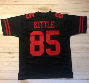 new product b2682 2d89a Details about GEORGE KITTLE CUSTOM SAN FRANCISCO SEWN STITCHED JERSEY 49ERS  SUPERSTAR - BLACK