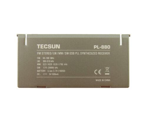 TECSUN PL-880 grey Radio Receiver Original Back Flip Stand