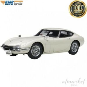 AUTOart-78754-Car-1-18-Toyota-2000-GT-Wire-Spoke-Wheel-Version-White-Finished