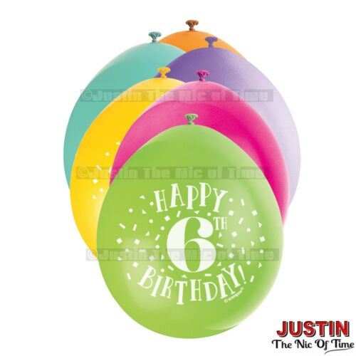 """9/"""" Hanging BALLOONS All Ages 1-100 Party Decorations Pack of 10 Airfill"""