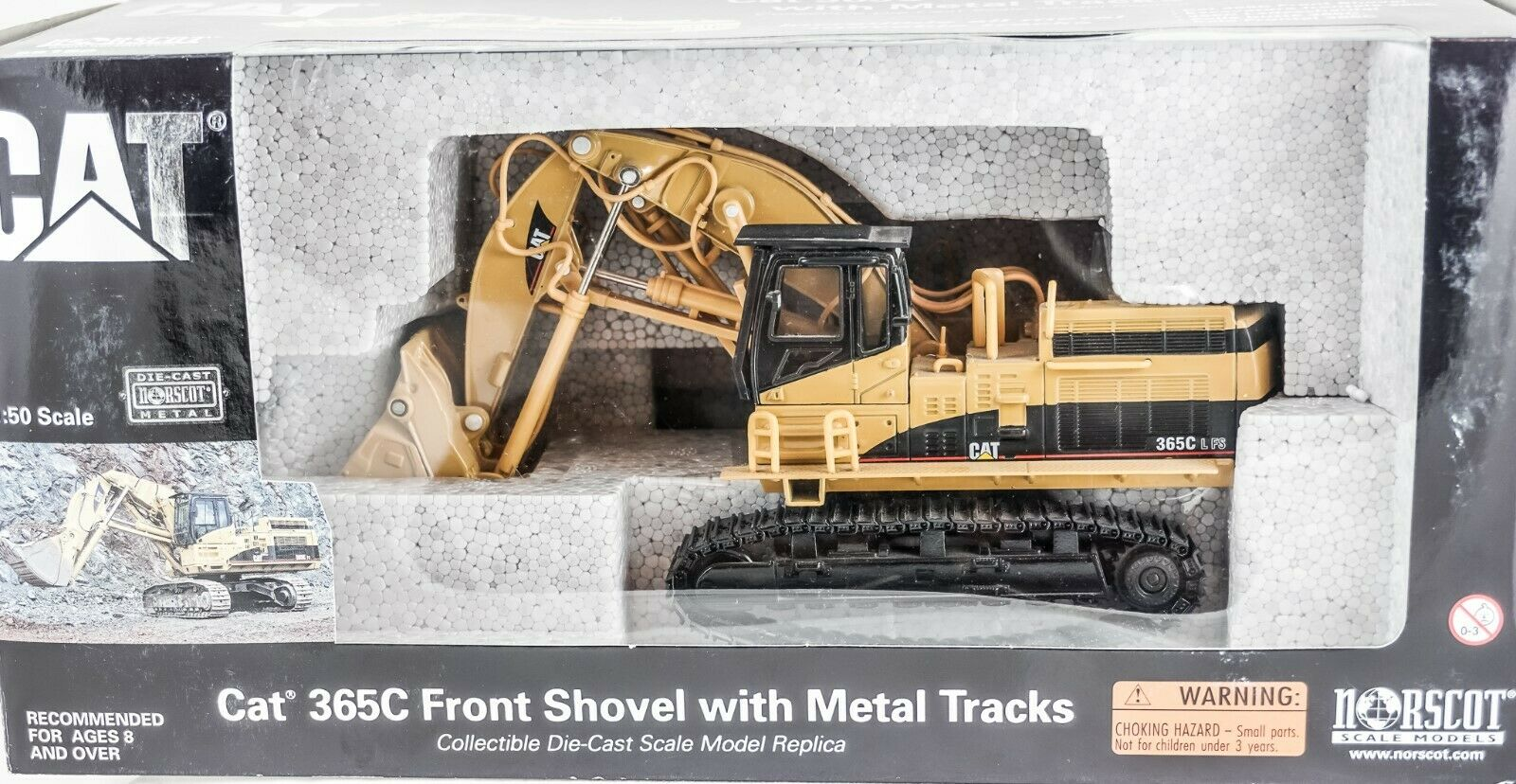 CAT 365C FRONT SHOVEL    55160 1 50 Norscot  All Metal Tracks Die Cast NIB
