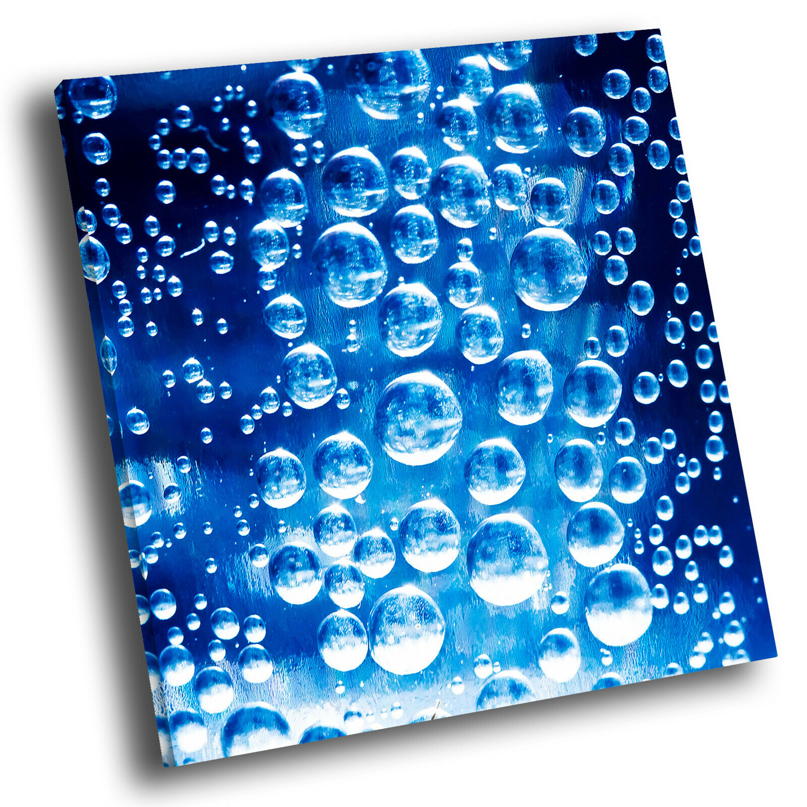 Blau Bubble Cool Square Abstract Photo Canvas Wand Kunst Large Bild Druckens