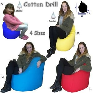 Adult-and-Childrens-Cotton-Bean-Bag-Large-amp-Giant-kids-Bags-with-Beans