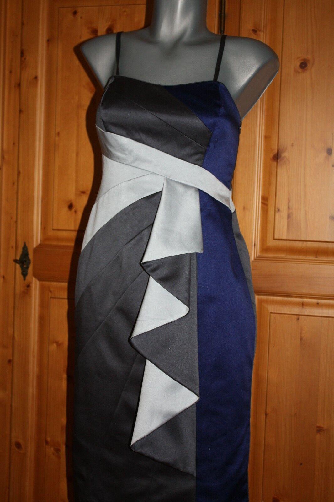 Debut Kleid Gr. 34/36 blau,grau