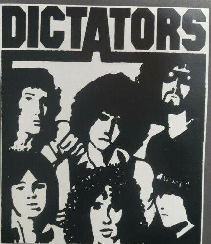 "Dictators Logo Iron On Heat Transfer Black 8""x9.5""  Punk Rock Band"