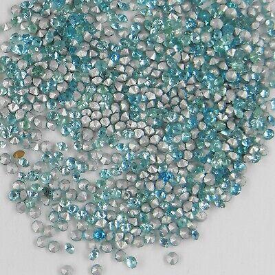 années 60 fond conique 2,5mm bleu turquoise foncé 215 25 ***60 strass anciens