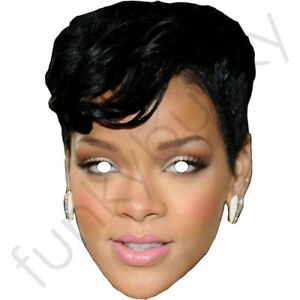 Rihanna Short Black Hair Celebrity Card Mask All Our Masks Are Pre