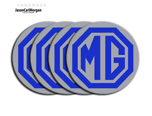 MG-ZR-ZS-ZT-Alloy-Wheel-Centre-Badges-Blue-Silver-80mm-Set-Pack-of-4