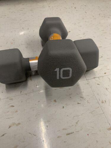 CAP Hex Neoprene Dumbbell 10 Pound Set Brand NEW Two 10 lbs Dumbbells