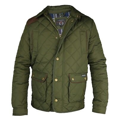 Konstruktiv Mens Quilted Outdoor Country Jacket Khaki Full Zip Jacket, By Carabou Fife