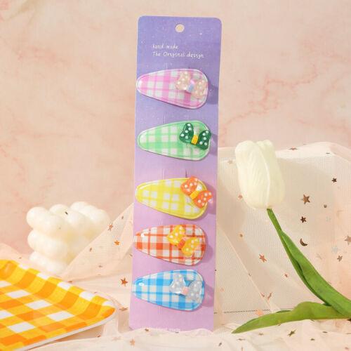 5pcs Lovely Fruit Baby Hair Pins Clip Girls Cute Bobby Pin Kids Hair Accessories