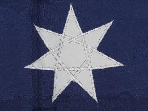 3x6 Embroidered Sewn Australia Australian 300D Nylon Flag 3/'x6/' 3 clips