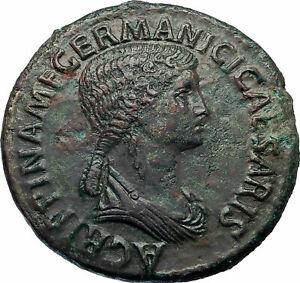 AGRIPPINA-SENIOR-42AD-Rome-Sestertius-Ancient-Roman-Coin-of-CLAUDIUS-i77383