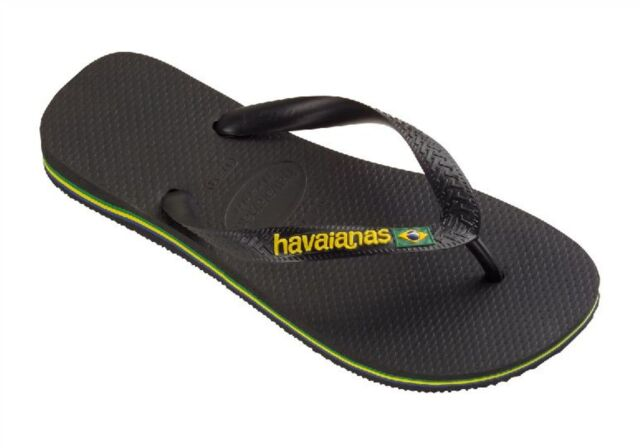 55f657c48 Havaianas Brazil Logo Flip Flops Uk8 Black for sale online