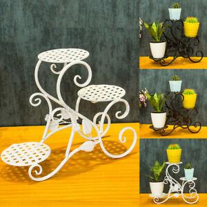Metal-Shelf-Flower-Pot-Plant-Stand-Rack-Holder-Indoor-Outdoor-Decor