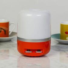 Orange Lampada Mini Radio FM Retro Italian Unique Speaker Vintage Style