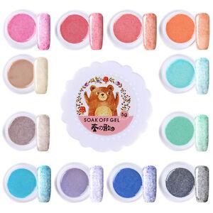 Fur-Effect-UV-LED-Nail-Gel-Polish-Soak-Off-Varnish-DIY-12-Colors