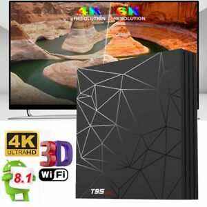 Details about Sunvell T95 MAX TV Box 6K 4K 4GB+64GB/32GB Allwinner H6  Android 8 1 WiFi H 265