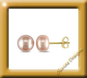 ECHT GOLD  *** Perlen Ohrstecker Ohrringe 8 mm