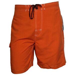 Mens-shorts-Swimwear-Trunk-Swimming-FREE-COUNTRY-Surf-Beach-Vacation-ORANGE