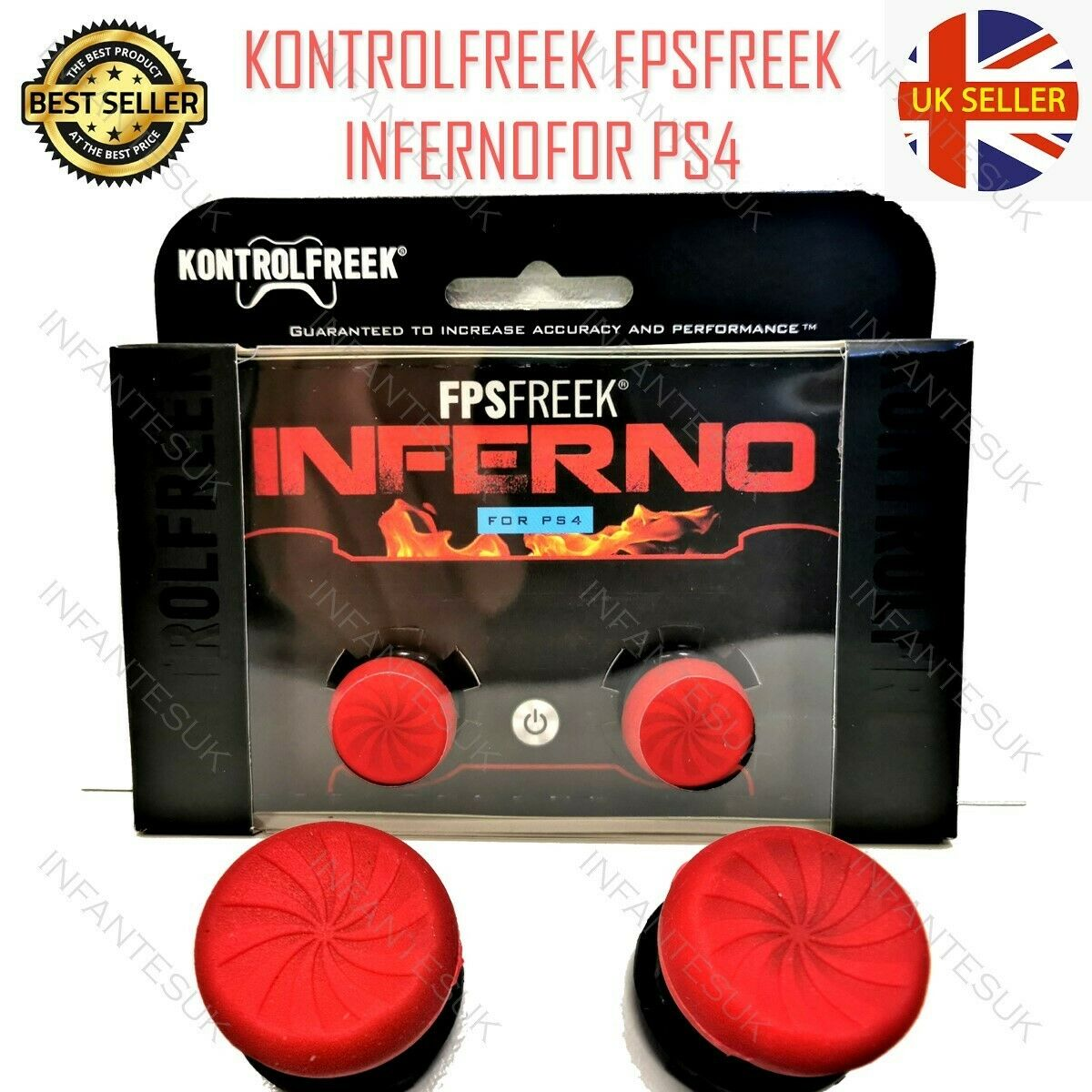 Kontrol Freek Inferno Thumbsticks Playstation 4 - Perfect For Warzone Apex