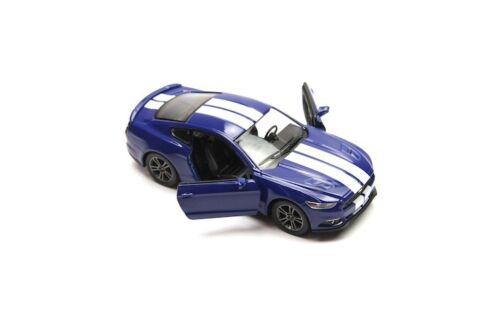 "New 5/"" Kinsmart 2015 Ford Mustang GT Stripe Diecast Model Toy Car 1:38 Blue"