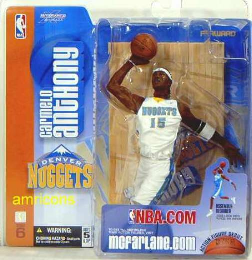 McFarlane Sports NBA Series 6 Carmelo Anthony Variant Action Figure New .