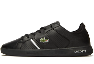 Lacoste-Novas-CT-118-2-JD-SPM-Men-Size-UK-10-amp-11-Black-Silver-Leather