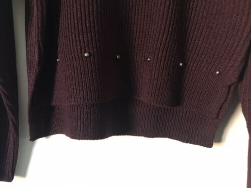 Girls Age 9-15 Years. BNWOT New Look Knitted Burgandy Studded Jumper