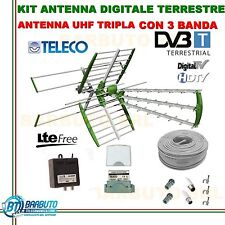 KIT COMPLETO ANTENNA COMBO TV DIGITALE TERRESTRE SWING 45 ELEMENTI 35db