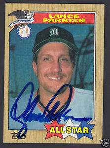 Lance Parrish Hand Signed 1987 Topps A/S Baseball Card #613 Tigers Sportslot COA