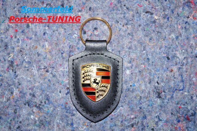 uk store popular brand top brands Porsche Driver's Selection Schlüsselanhänger Wappen Leather Keyring black