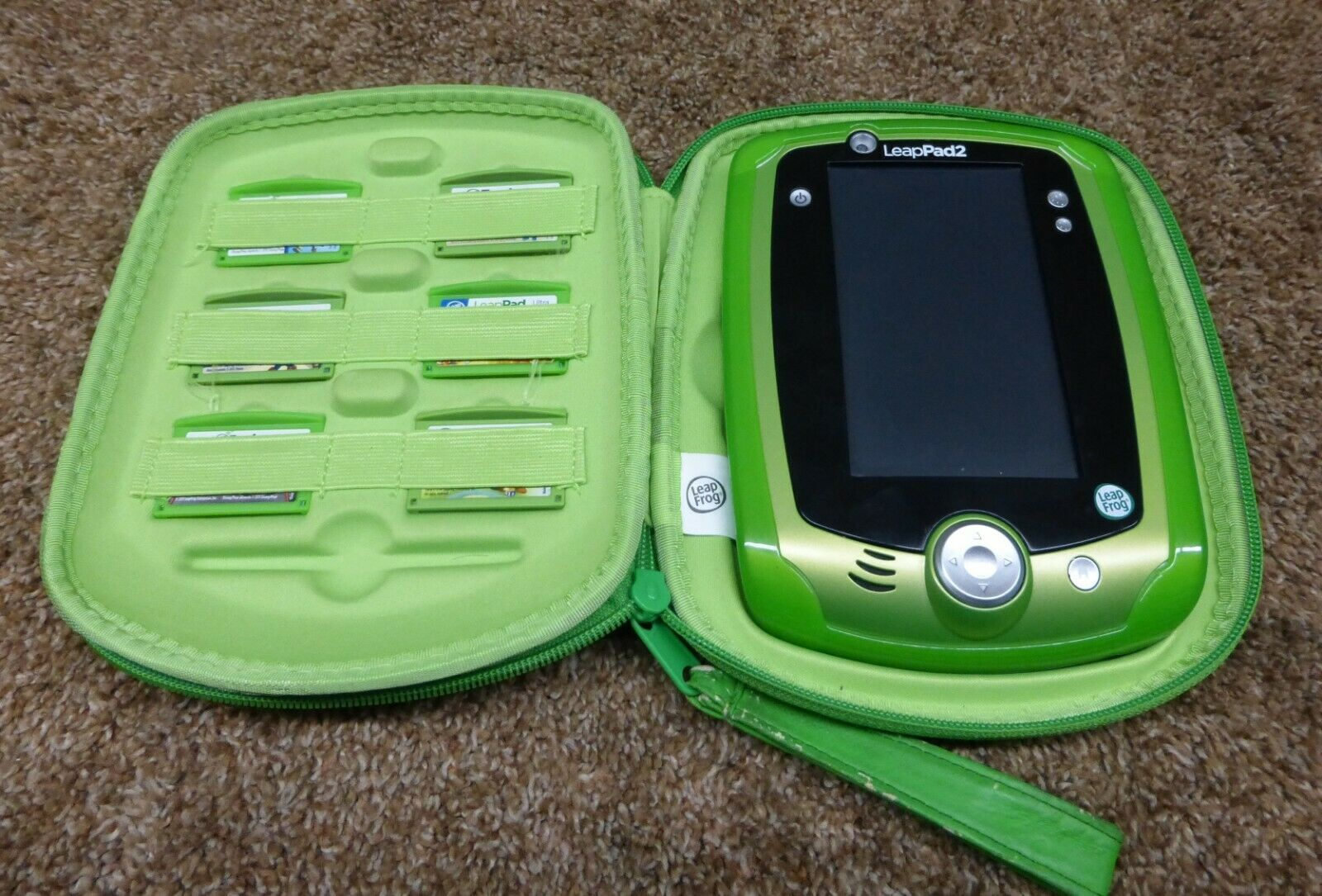 Leapfrog LeapPad Green  Kids Learning Electronic Tablet Case 7 Games FREE GIFT