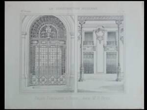 Alger, Palais Consulaire - 4 Planches - Construction Moderne 1893- Henri Petit Prix Fou