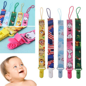 Baby Toddler Pacifier Strap Dummy Soother Nipple Holder Clip Chain Q