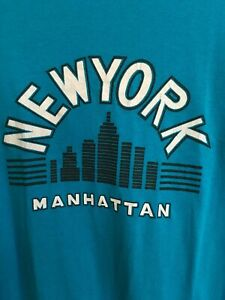 RARE-Vintage-TEE-90s-NEW-YORK-CITY-MANHATTAN-NYC-GREAT-GIFT-USA-MEMORABILIA-WOW