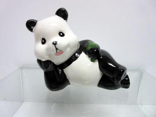 New Porcelain Happy Panda Bear Set 4 Pandas Bears 663.45D